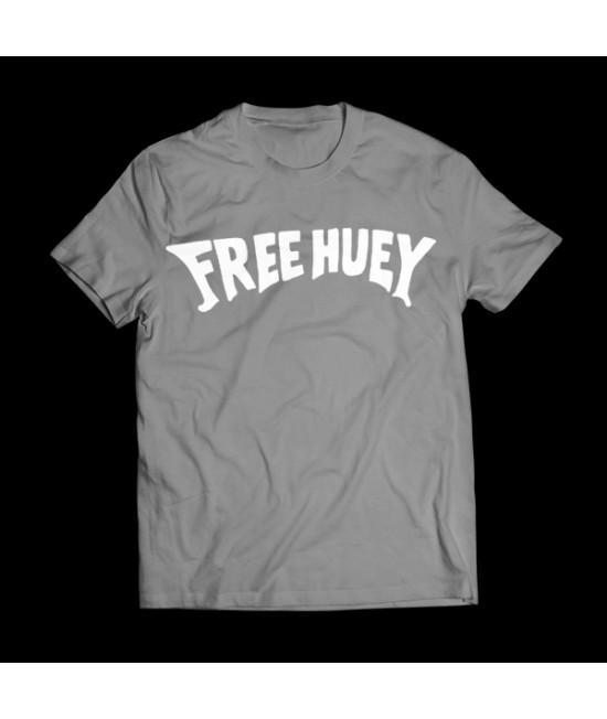 Grey FREE HUEY Throwback Tee